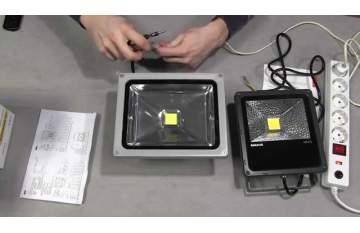 Как подключить LED прожектор?